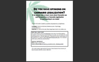 Current Cannabis Use Patterns and Perspectives on Legalization