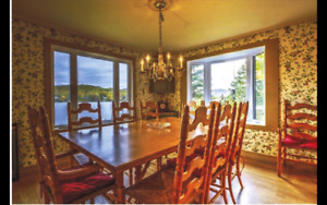 Dining room set country   handcraft