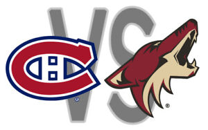 Canadiens vs. Coyotes - Wed Jan 23 - 1st row Club Desjardins!!