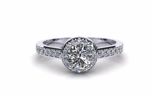 Custom Diamond Engagement Ring - Hand Crafted in Solid Gold