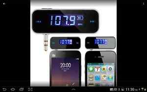 FM Transmitter For Car Smart Phone Auto Player Audio Device FM N London Ontario image 1