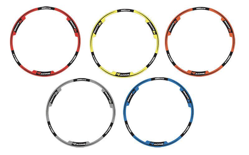 adesivi moto grafiche per cerchi in Crystal Blackbird cross enduro arancione 1