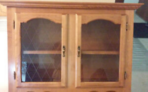 Solid Wood  Pine French Cabinet /Hutch