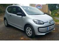 2014 VOLKSWAGEN UP 1.0 60ps Take Up £20 CHEAP TAX SILVER 3DR IDEAL 1ST CAR FSH