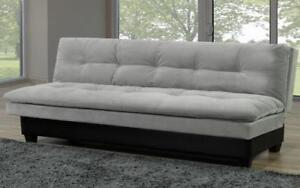 Velvet Fabric Sofa Bed with Storage - Grey | Black Black | Grey