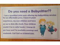 Need a babysitter??