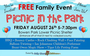 Picnic in the Park! Free community event for families!