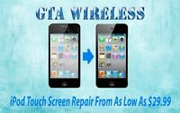 Repair Cracked Screen iPod Touch 4 5 On The Spot $39!! +WRTY