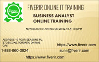 Business analyst online training with job placement