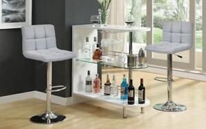 Bar Set with Stools - 3 pc - Grey | Charcoal | Black | Red 3 pc Set / Grey