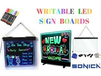 Writable LED Sign Boards, LED Display Boards, Shops, bars coffee shops