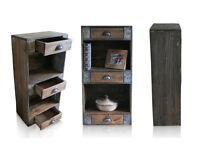 3 DRAWER BOOKCASE , reclaimed pallet wood, industrial
