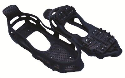 SNOW SHOE BOOT GRIPS ICE GRIPPERS CRAMPONS SPIKES STUDS LARGE SIZES 9 1/2 - 12