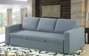 Fabric Sofa Bed with Arm Rest - Grey Grey
