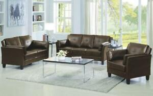 Sofa Set - 3 Piece - Brown Brown