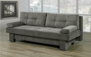 Fabric Sofa Bed with Storage - Grey Grey