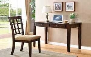 Office Desk and Chair Set with 2 Drawers - Espresso Espresso