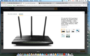 TP-Link AC1750 Dual Band Wireless AC Gigabit Router, 2.4GHz 450M