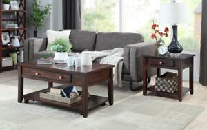 Coffee Table Set with Lift Top & Shelf - 3 pc - Espresso Espresso / End Table Canada Preview