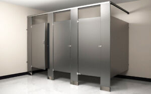 Toilet partitions Bathroom and Washroom Stalls - In stock