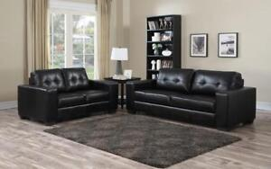 ***BLOWOUT SALE****2-PIECE SOFA SET - SQUARE DESIGN (BLACK)**LOWEST PRICES