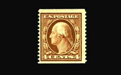 US Stamp Mint OG & H, VF S#354 fresh color coil single