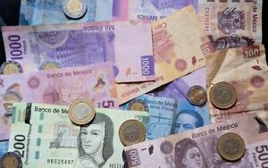 Buying all current Mexican pesos. Bills and coins