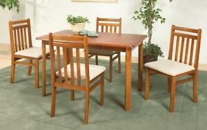Kitchen Set Solid Wood - 5 pc - Oak 5 pc Set / Oak