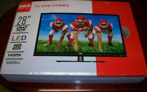 Téléviseur TV HD DEL 28 po RCA télévision combo Lecteur DVD