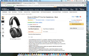 Bowers and Wilkins P7 Headphone - Black(Certified Refurbished)
