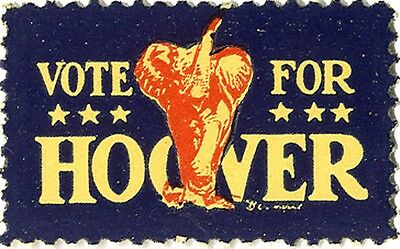 1928 Campaign VOTE for Herbert HOOVER Elephant Seal (3823)