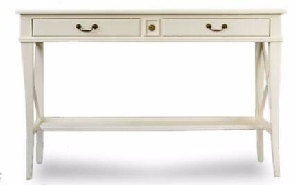 French Provincial Side Table - White--