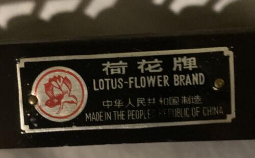 Vintage Lotus Flower Abacus 13 Rods 91 Beads Metal Wood Peoples Republic China - $45.50