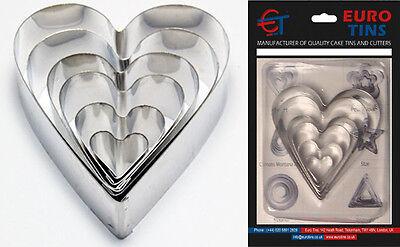 "Heart Shape Leaf Steel Cookie Cake Cutter 1"" deep set of 6 – Decorating Tool"