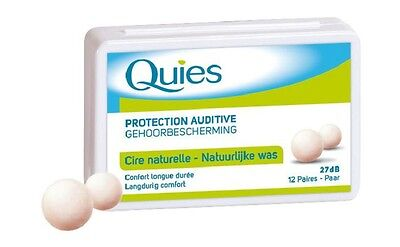 QUIES ear plugs natural wax Hearing Protection 27 dB 12 pairs (Quies Ear Plugs)