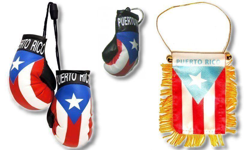 Puerto Rico Mini Banner 4 x 6 Flag Mini Boxing Key Holder Boricua  #3