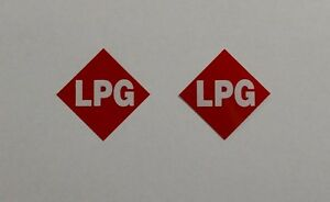 LPG Stickers x2  --Reflective Red LPG Number Plate Stickers--