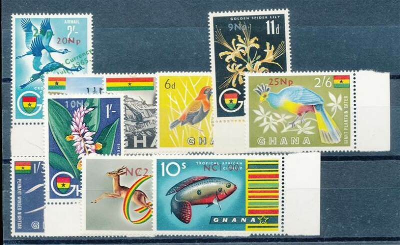 214386) Ghana Nr.287-296** Einführung neue Währung