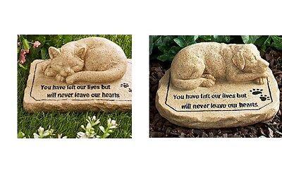 Pet Ceramic Garden Memorial Stone Sweet Memory of Beloved Friend Dog or Cat  Beloved Pet Memorial Stone