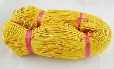 80 Metres X1mm Waxed Cotton thread YELLOW Macrame-jewelry-craftwork £5.95 UK