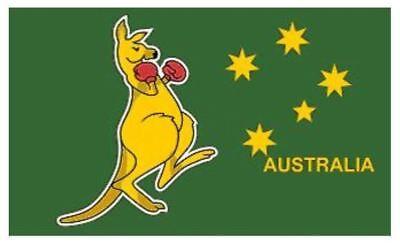 AUSTRALIAN BOXING KANGAROO WALLABY WALLABIES FLAG AUSSIE FLAG RUGBY 5FT X 3FT