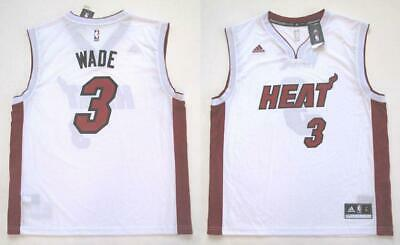 ADIDAS MIAMI HEAT DWYANE WADE REPLICA WHITE HOME JERSEY LARGE Replica Miami Heat Jersey