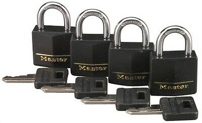 Master Lock 131Q 1 3 16  Brass Weatherproof Padlock 4 Count