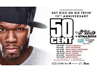 TWO LEVEL 1 GOOD SEATED 50 CENT GET RICH OR DIE TRYIN O2 ARENA TICKERS 20TH SEPTEMBER