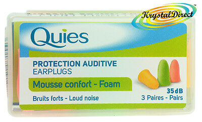Quies Soft FOAM Ear Plugs Earplugs Noise Protection (Quies Ear Plugs)
