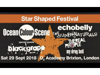 2 tickets Star Shaped Festival 29 September 2018 at O2 Academy Brixton £25 each or next best offer