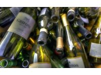 Wanted: RECYCLED EMPTY Glass Wine / Champagne / Prosecco Bottles (Corked not Screwtop)