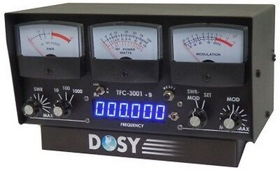 NEW DOSY TFC-3001-S 3 Meter In-Line Wattmeter w/ Frequency Counter FAST SHIPPING