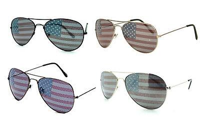 American USA Flag Aviators Sunglasses Patriotic United States Stars - All Colors
