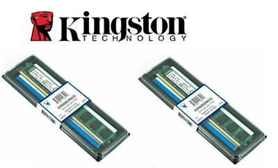2X BANCO MEMORIA RAM PC COMPUTER DESKTOP DDR2 2GB KINGSTON KVR800D2N6/2G.